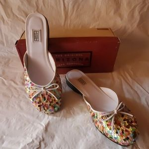 New multi colored sequined flats size 7 1/2